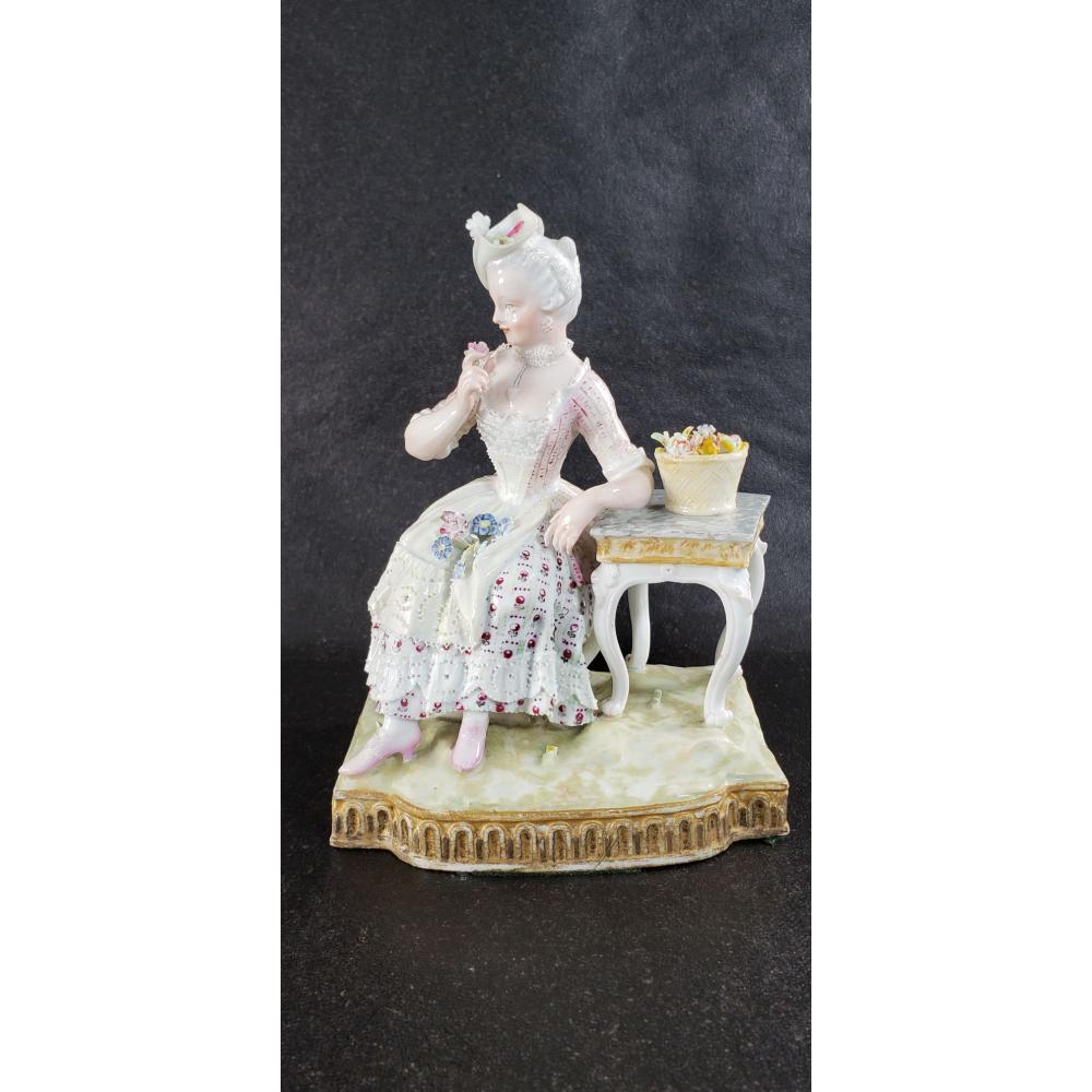 Antique Meissen Porcelain Figure Marcolini Period