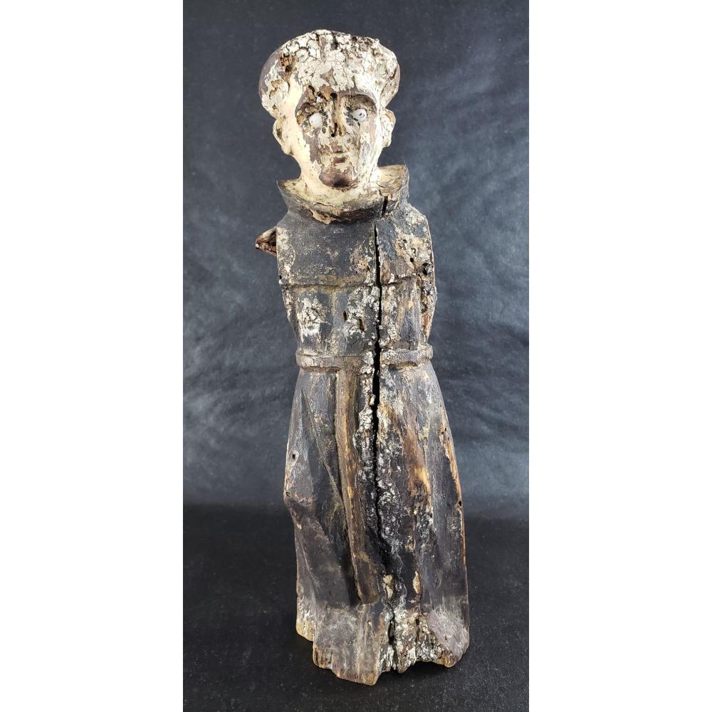 Antique Carved Wooden Santos Religious Figure 18-19 c.