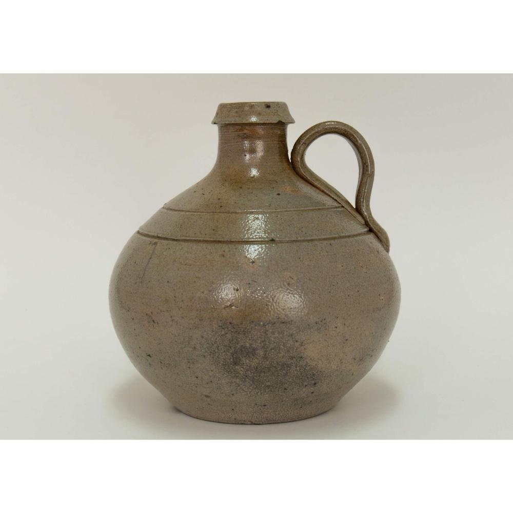 Pint Sized Jugtown NC Salt Glaze Stoneware Jug.