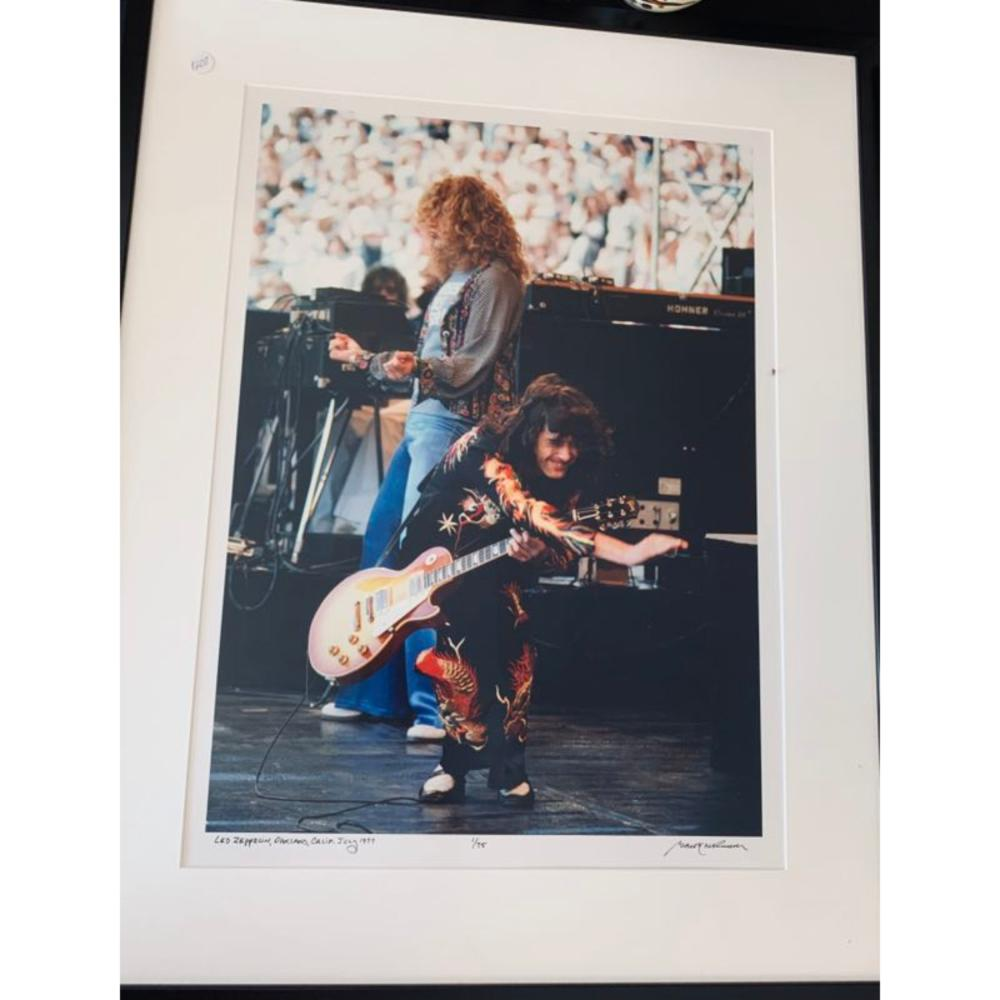1970 Jimmy Page Photo Original # 1/50 Barrie Wentzell
