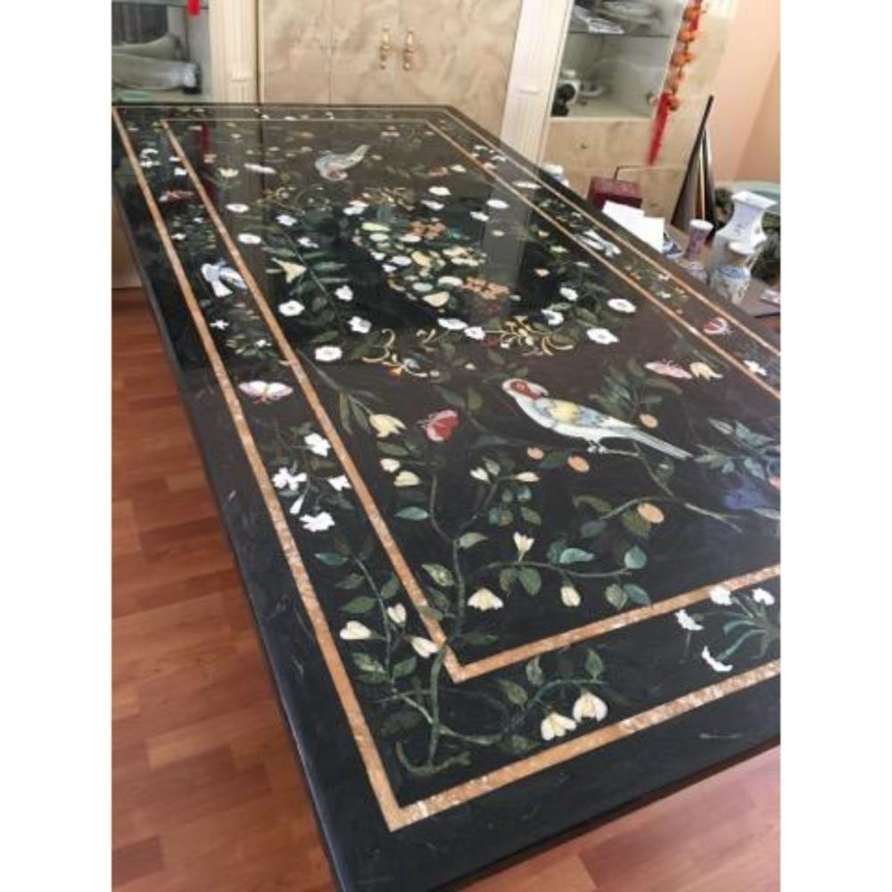 Large Magnificent Pietra Dura Mosaic Table