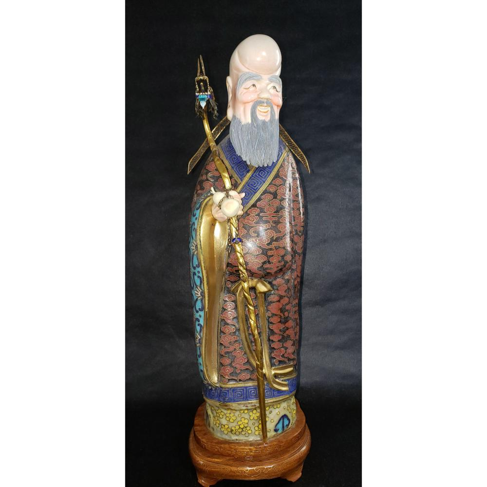 Antique Chinese Cloisonne Figure Early 20 c.