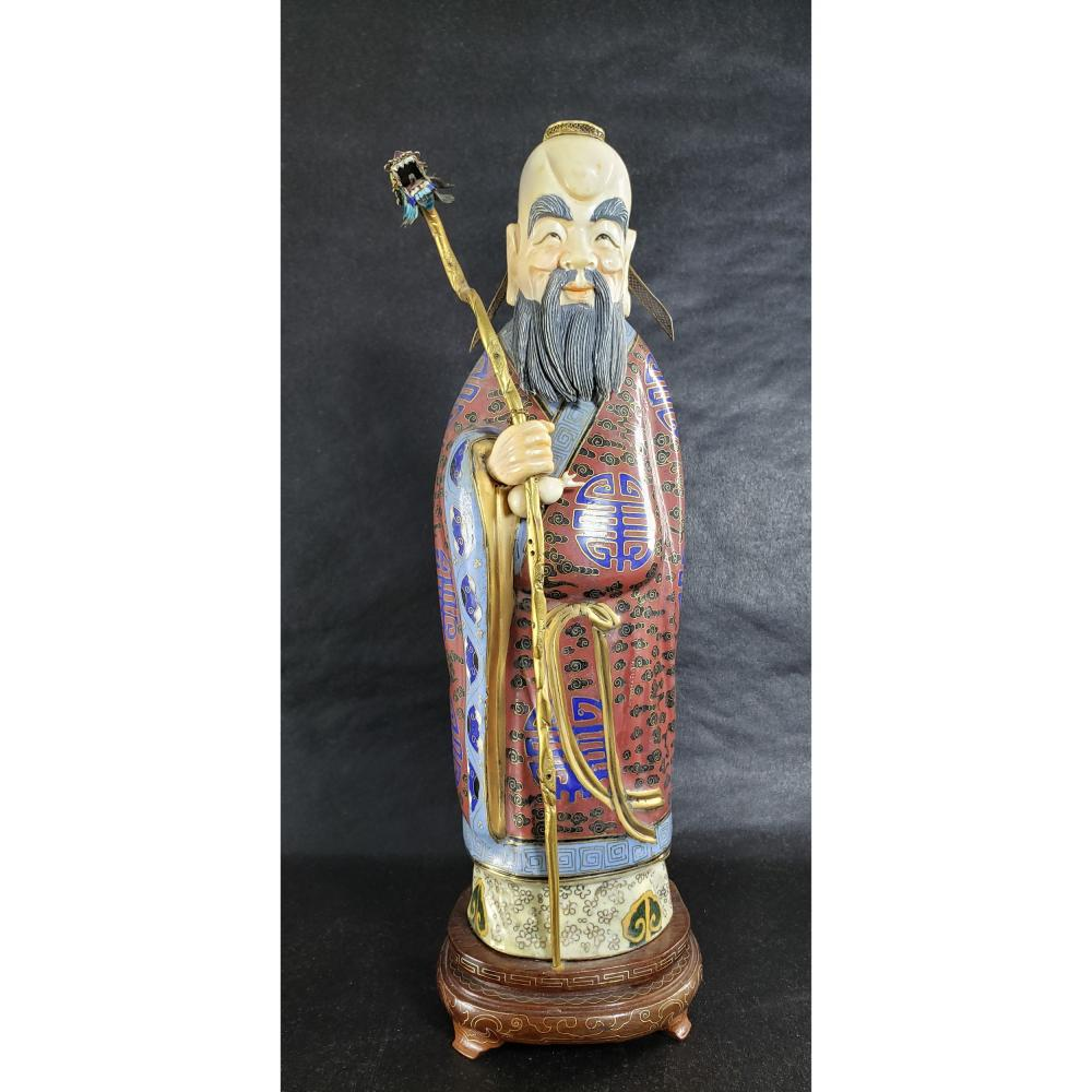 Antique Chinese Cloisonne Figure Early 20 c