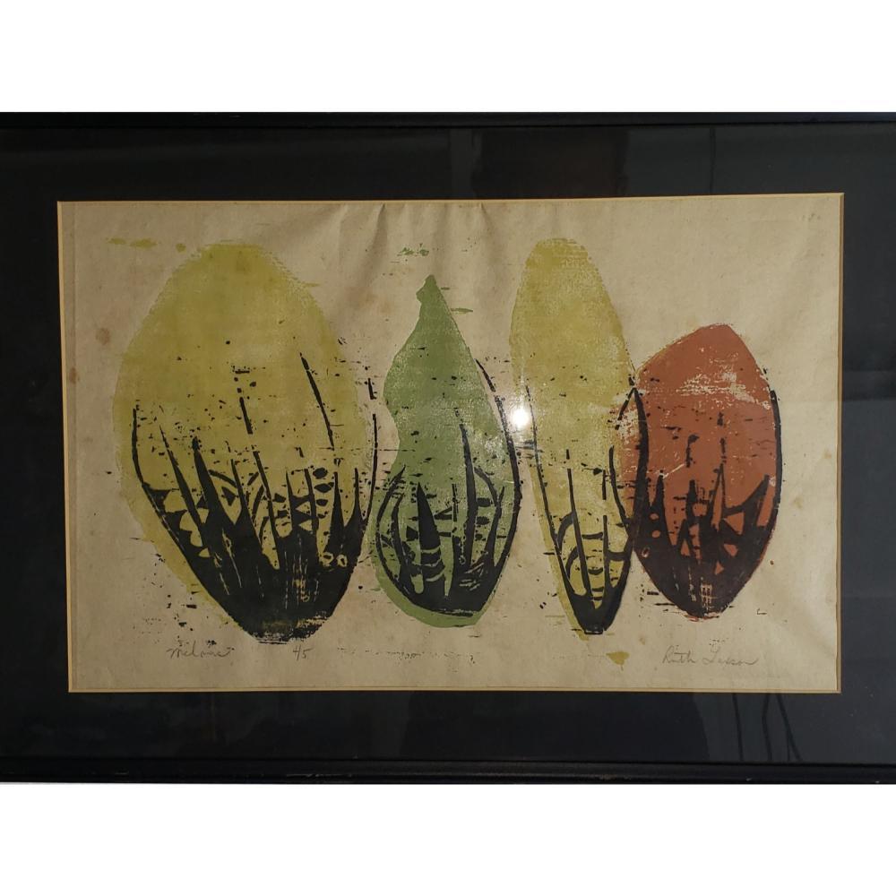 "Signed Still Life "" Melons"" Ruth Layson."