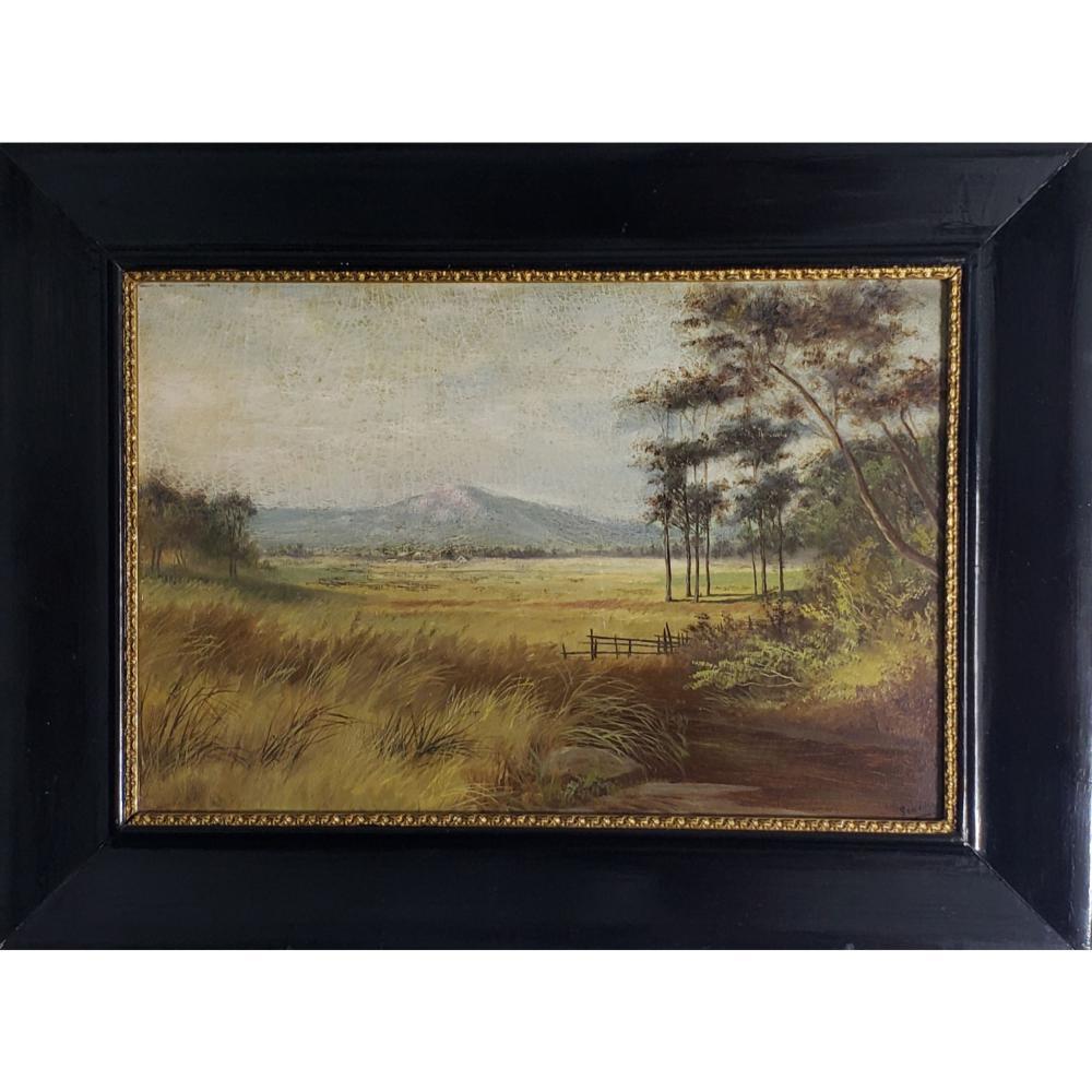 Signed O/B Landscape Painting 19-20 c