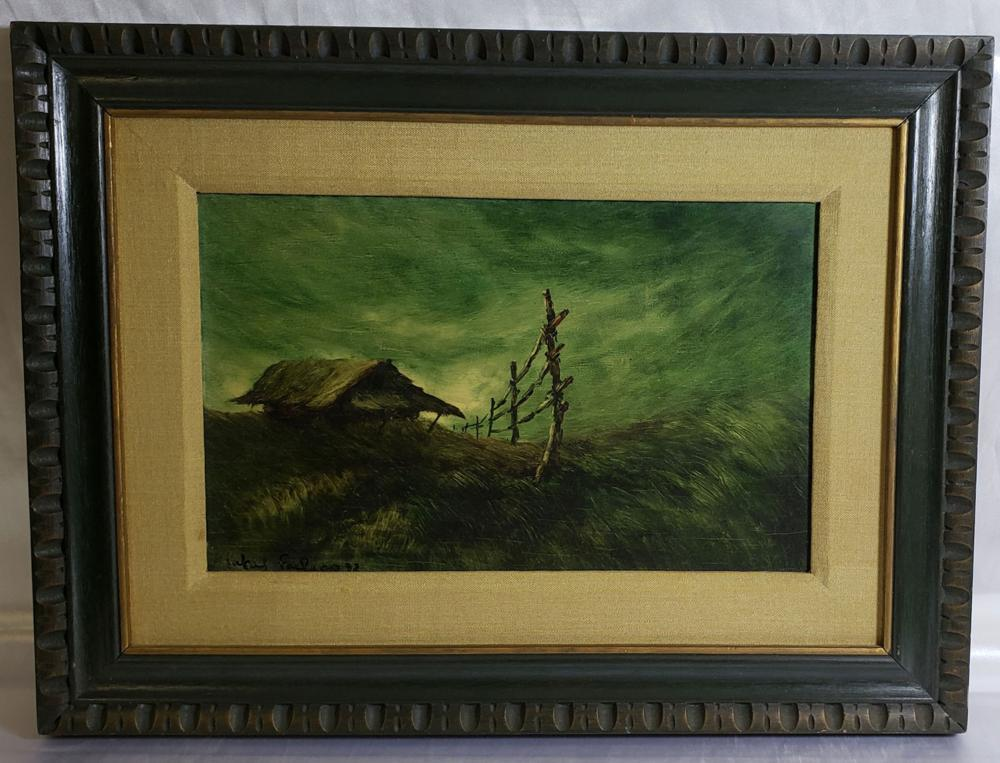 Signed Rafael Pacheco Landscape Painting 20th C