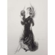"MAURICE ELIOT (1862-1945) LITHOGRAPH ""PARISIENNE"""