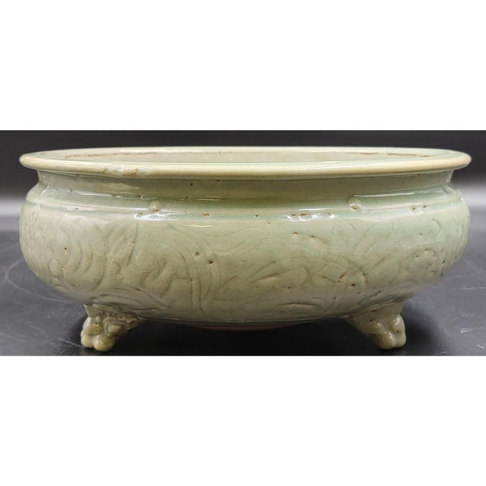 Chinese Longquan Celadon Tri Pod Censer Ming Dynasty