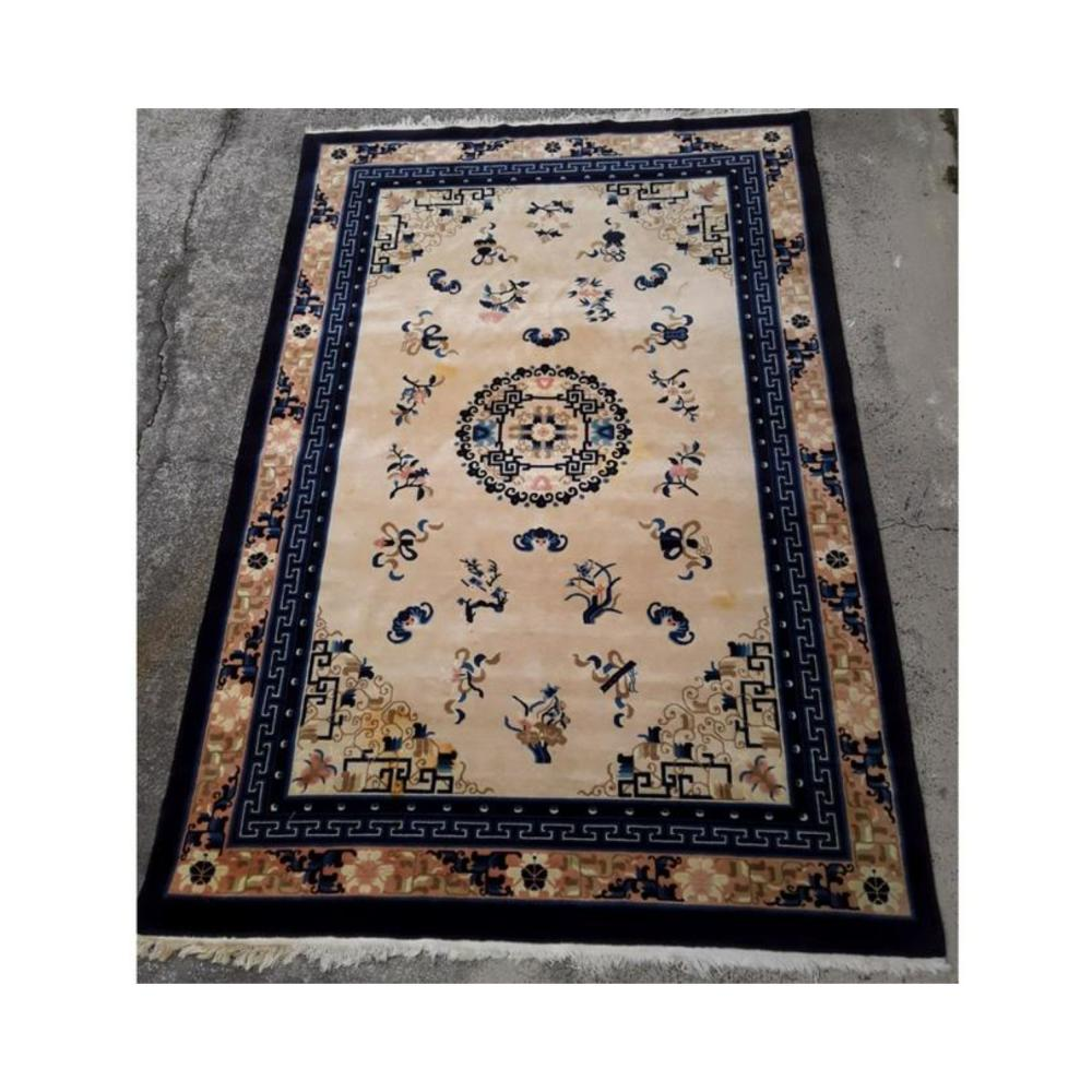 ANTIQUE ART DECO, NING XIA CHINESE RUG, EARLY 19TH C