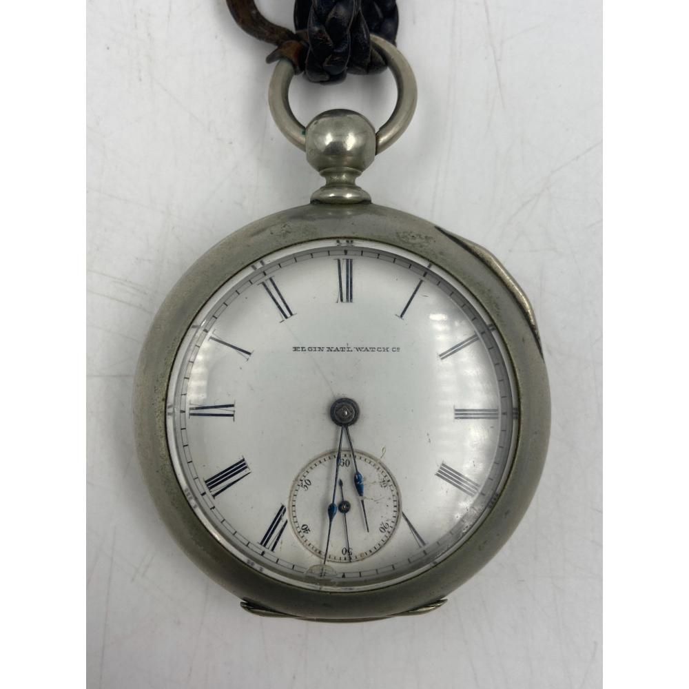 1876 ELGIN POCKET WATCH KEY WIND WITH 11 JEWELS