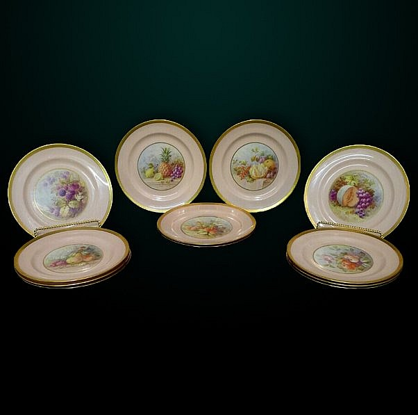22: Set of 12 Plates Retailed by Tiffany