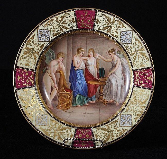 57: Fine Scenic Royal Vienna Plate