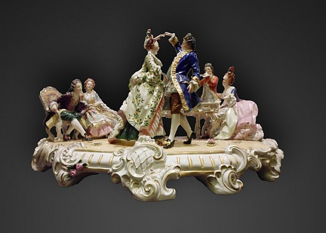 53: A Large 19th Century Porcelain Group