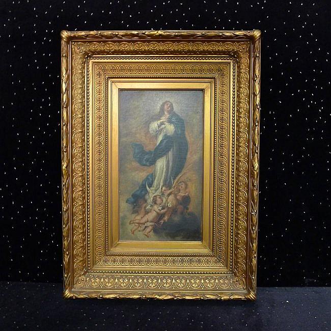14: Oil on Panel of Madonna
