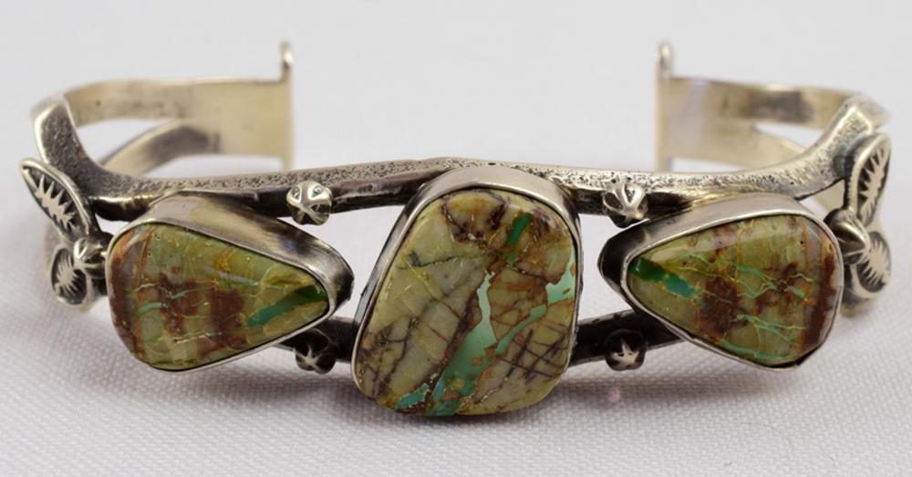 Emer Thompson Sterling Ribbon Turquoise Bracelet