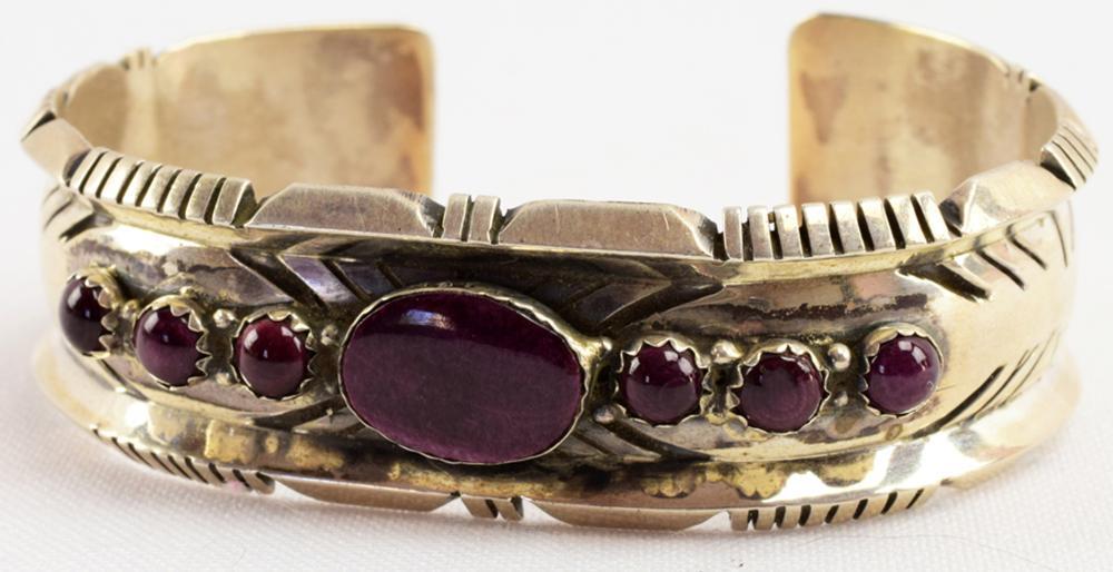 Navajo Sterling Purple Spiny Oyster Bracelet