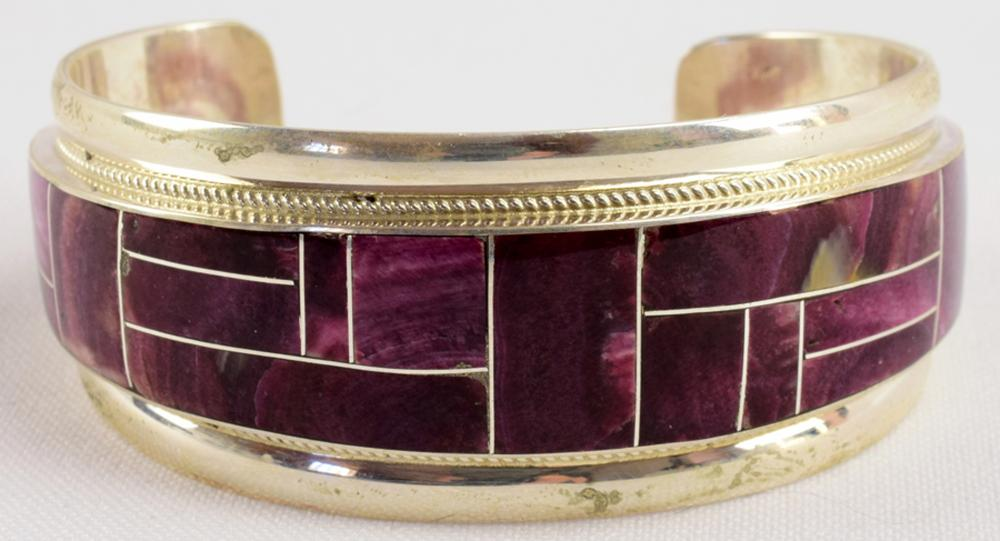 Zuni Rickell & Glendora Booqua Inlay Bracelet