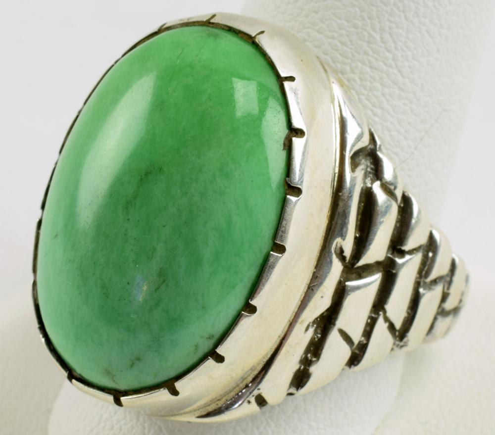 T. Hasteen Sterling Silver Men's Turquoise Ring