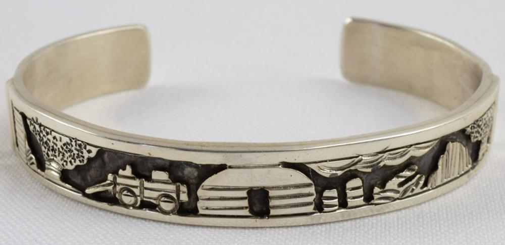 T. Jon, Navajo Sterling Silver Storyteller Bracelet