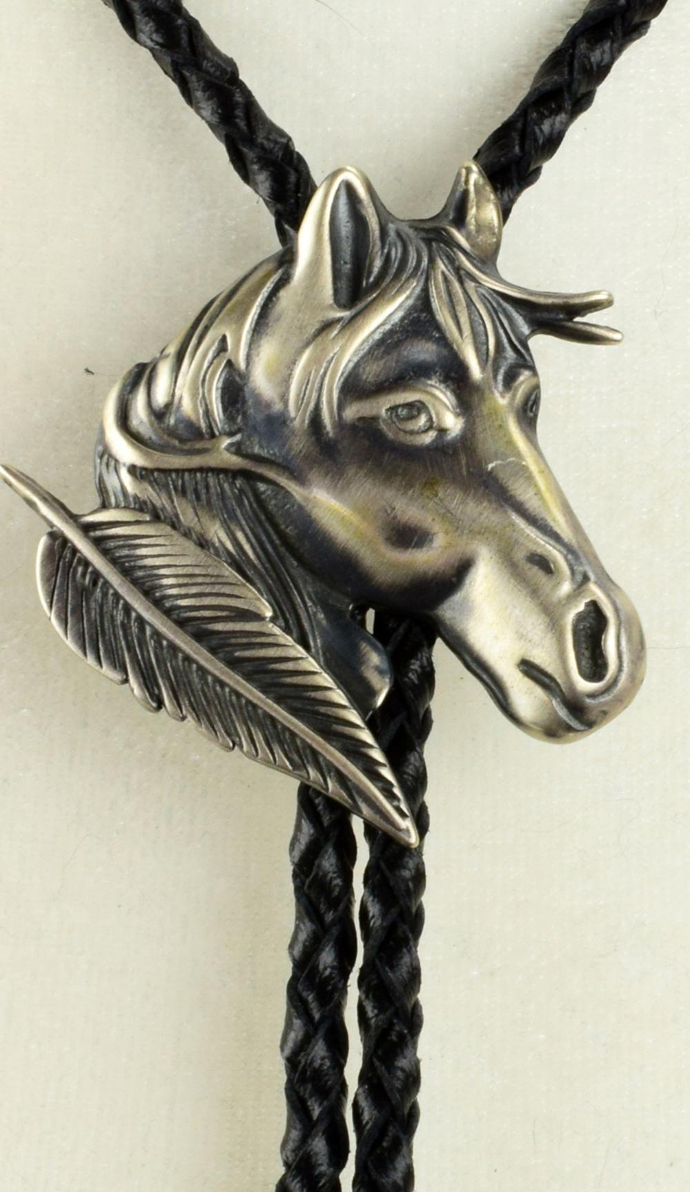 Navajo sterling Horse Head Bolo Tie by E. Richards