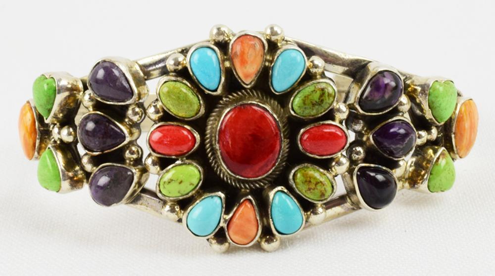 Masterpiece Sterling Multi-Stone Bracelet-B. Johnson