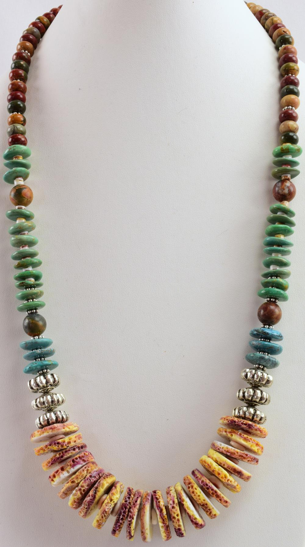 Navajo Huge Turquoise & Multi-Stone Necklace