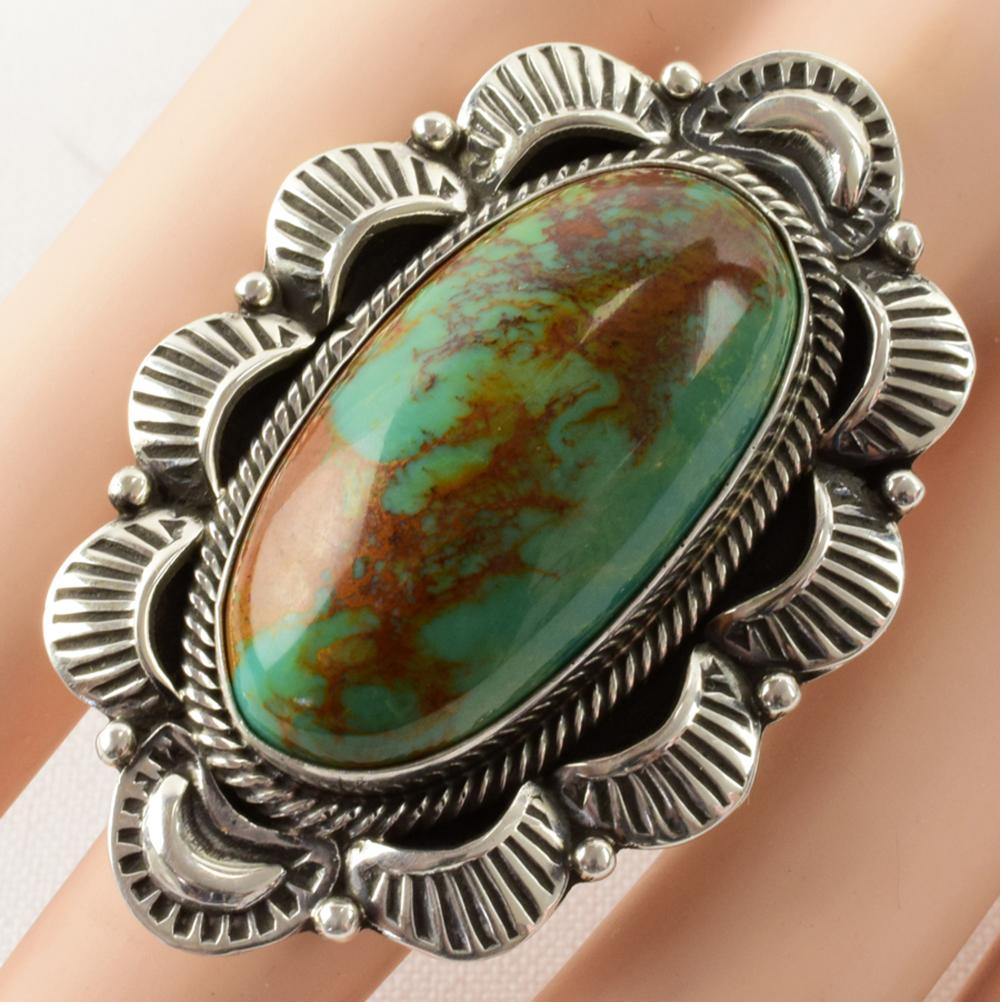 Lorenzo James Sterling Natural Turquoise Large Ring
