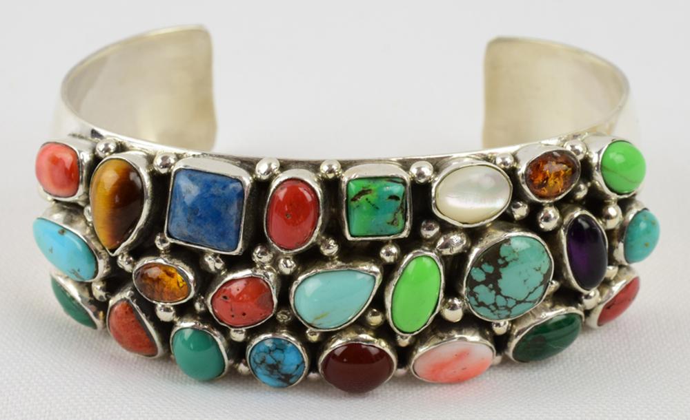 Navajo, Emer Thompson Sterling Multi-Stone Bracelet