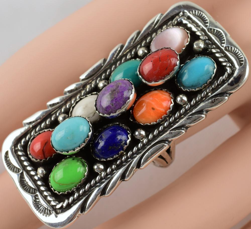 Navajo, Emer Thompson Sterling Multi-Stone Ring