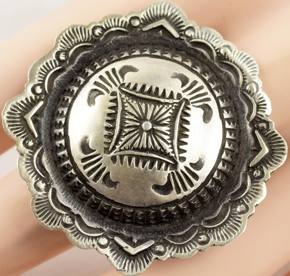 Navajo Sterling Hand Stamped Ring by Vincent Platero