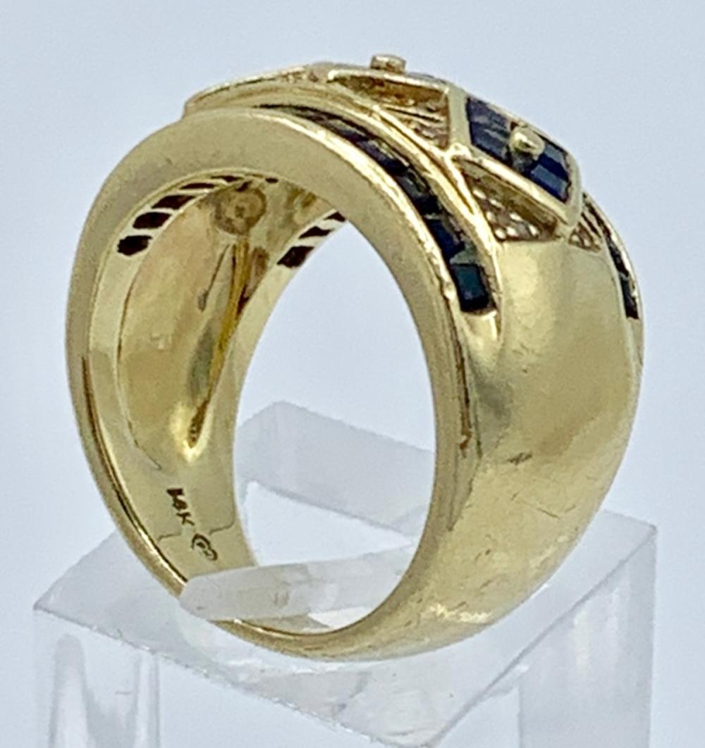 14K YELLOW GOLD RING WITH SAPPHIRES