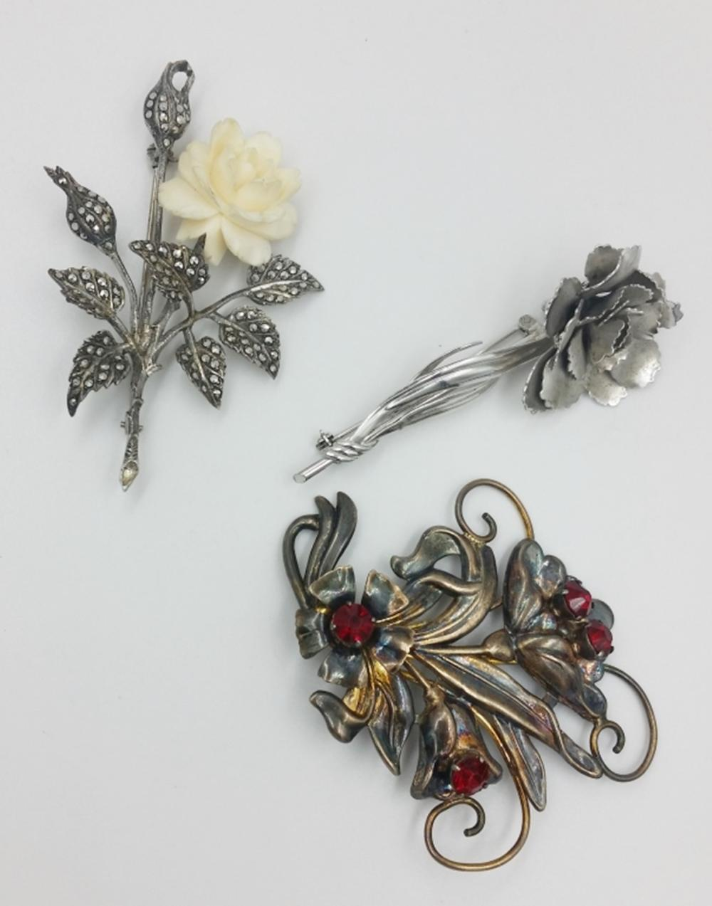 3 STERLING PINS