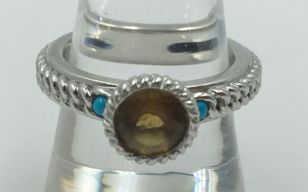 ANTHONY NAK ATELIER TURQUOISE STERLING SILVER RING