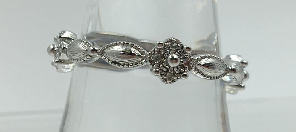 STERLING SILVER STACKING RING WITH CZ