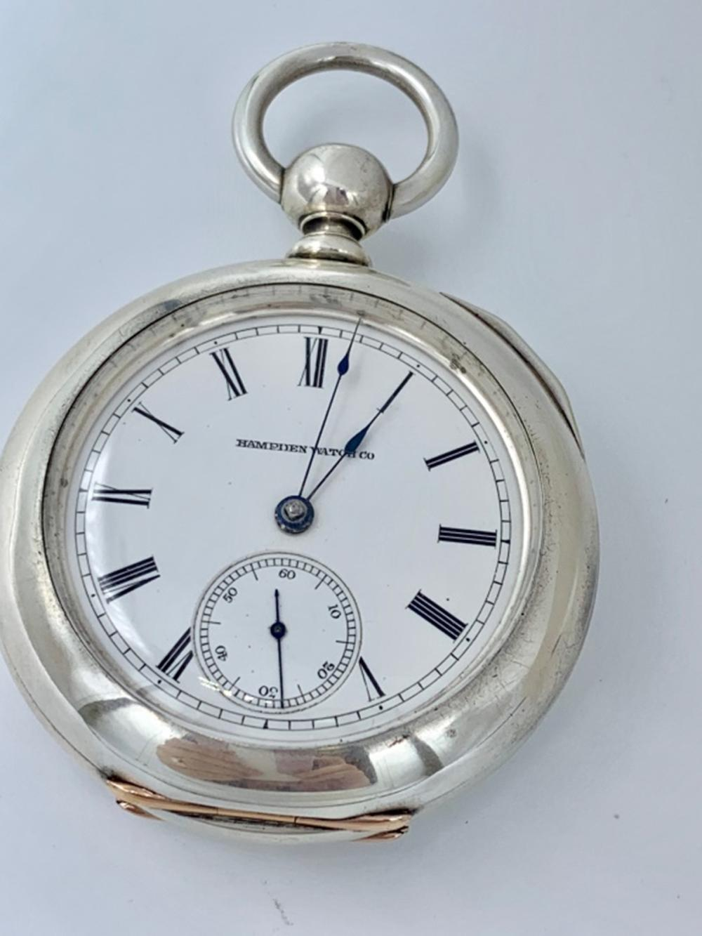 18 SIZE HAMPDEN WOOLWORTH OPEN FACE WATCH