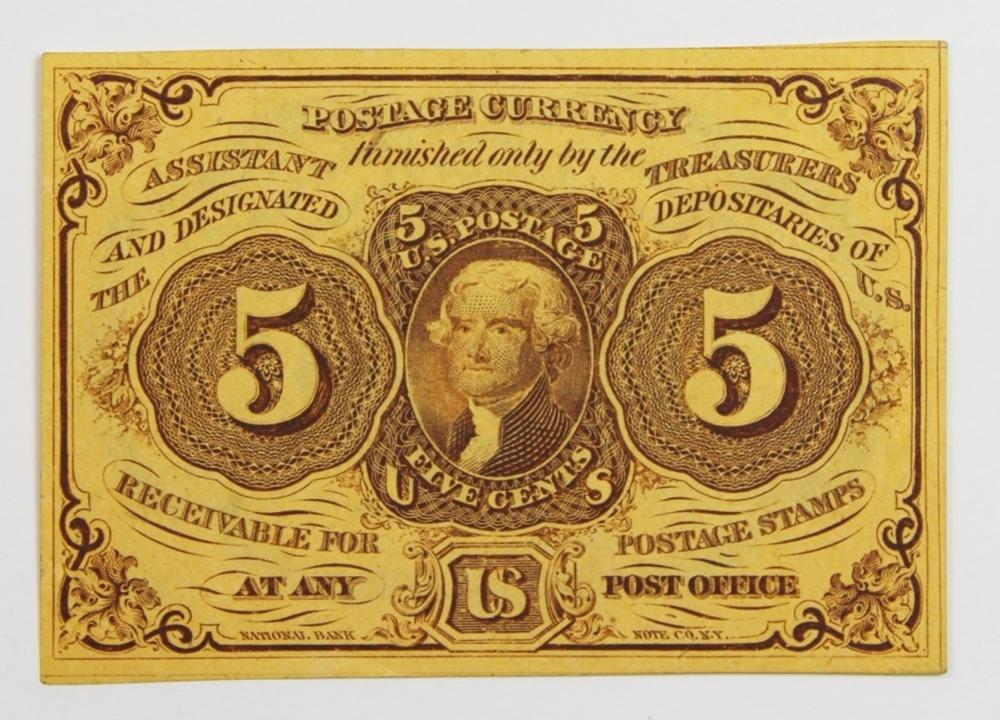 1862 FIVE CENT FRACTIONAL CURRENCY