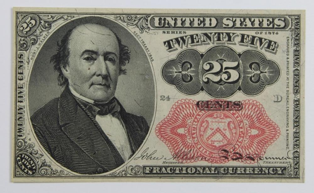 1874 TWENTY-FIVE CENT FRACTIONAL CURRENCY