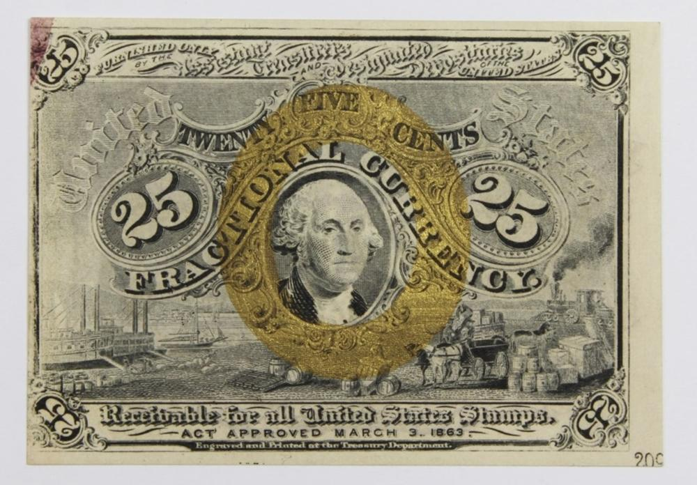 1863 TWENTY-FIVE CENT FRACTIONAL CURRENCY