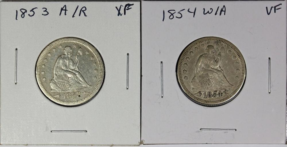 (2) STANDING LIBERTY QUARTERS