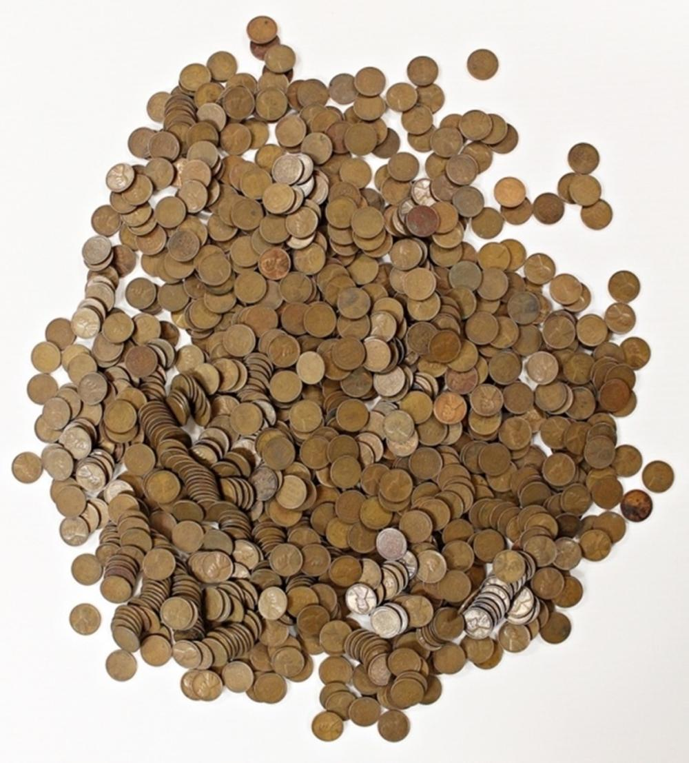 "1000 ""S"" MINT LINCOLN WHEAT CENTS"