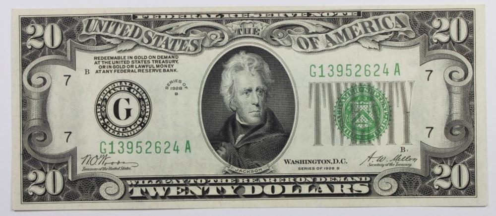 1928-B $20 FEDERAL RESERVE NOTE
