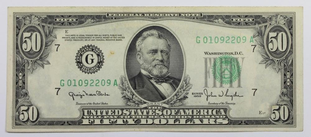 1950 $50.00 FEDERAL RESERVE NOTE