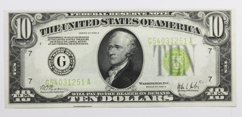 $10.00 FEDERAL RESERVE NOTE
