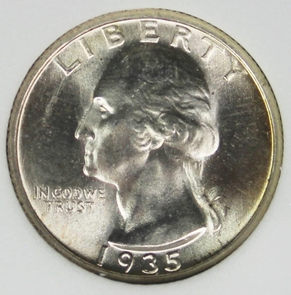 1935-S WASHINGTON QUARTER