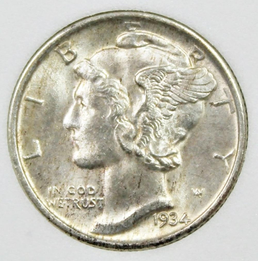 1934 MERCURY DIME