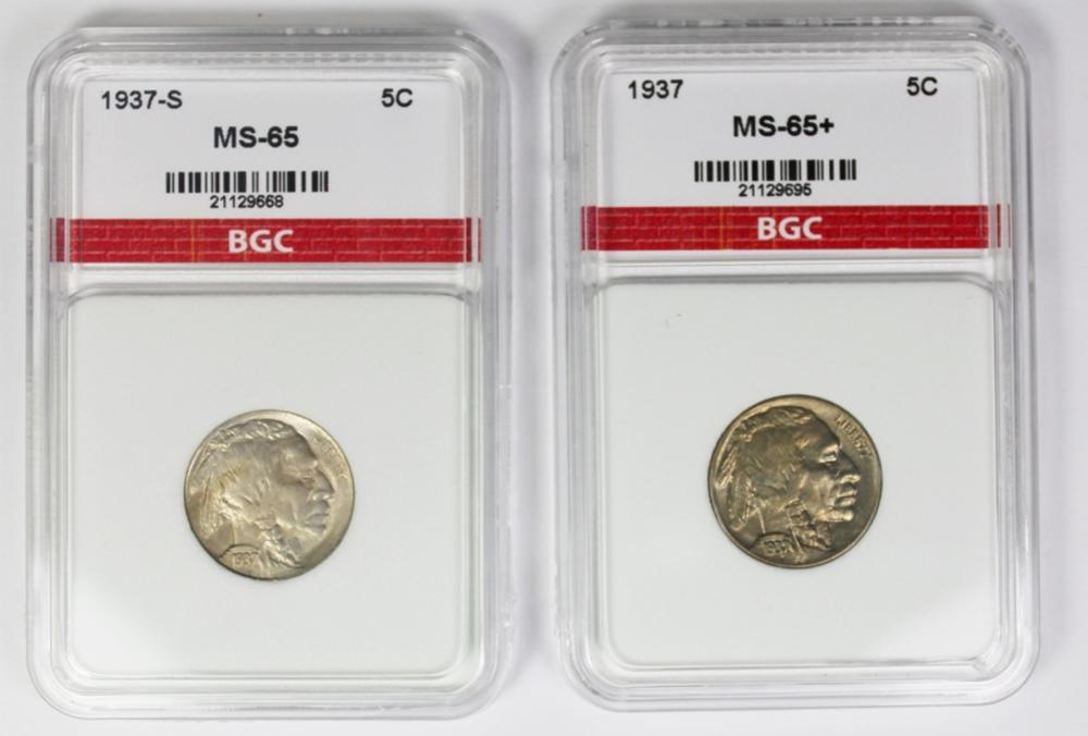 1937-S & 1937 BUFFALO NICKEL