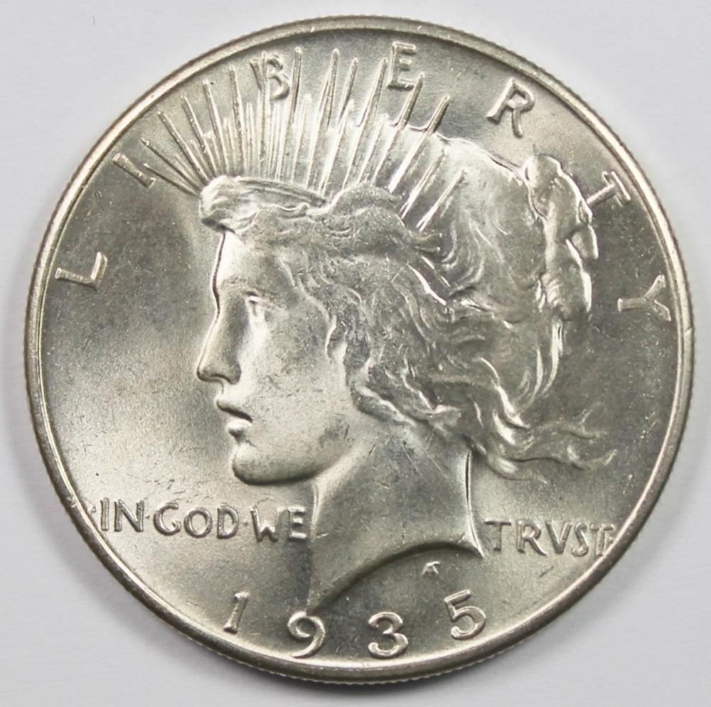 1935 PEACE SILVER DOLLAR
