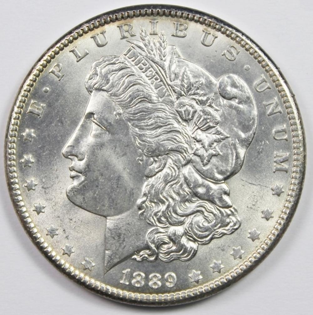 1889 MORGN SILVER DOLLAR