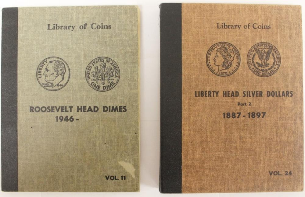OLD 1959 LIBRARY OF COINS ALBUMS