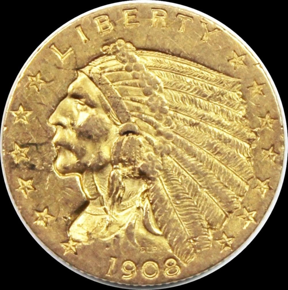 1908 $2.50 INDIAN GOLD